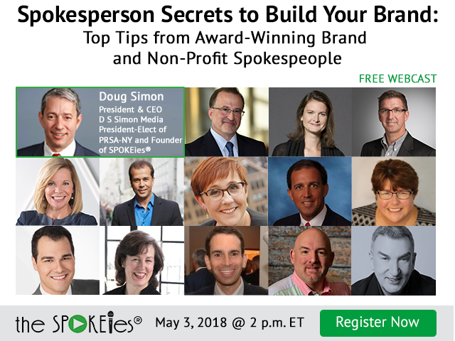 Register to Watch: Spokesperson Secrets to Build Your Brand - D S Simon